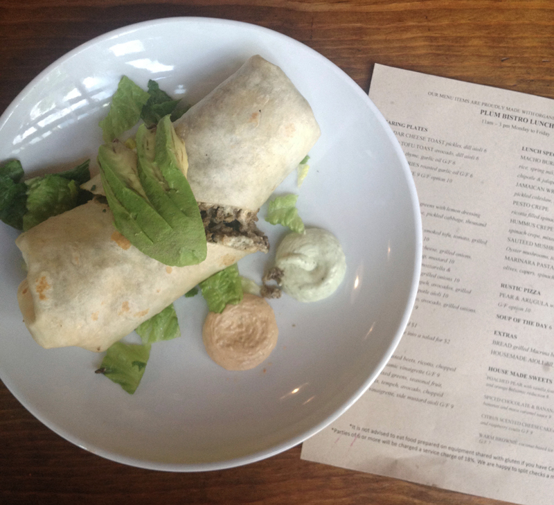 Seattle - Plum Bistro, Vegan Burrito
