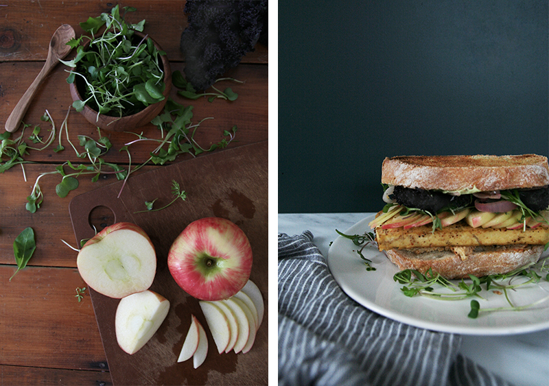 Grilled Tofu & Apple Sandwiches, vegan, vegetarian