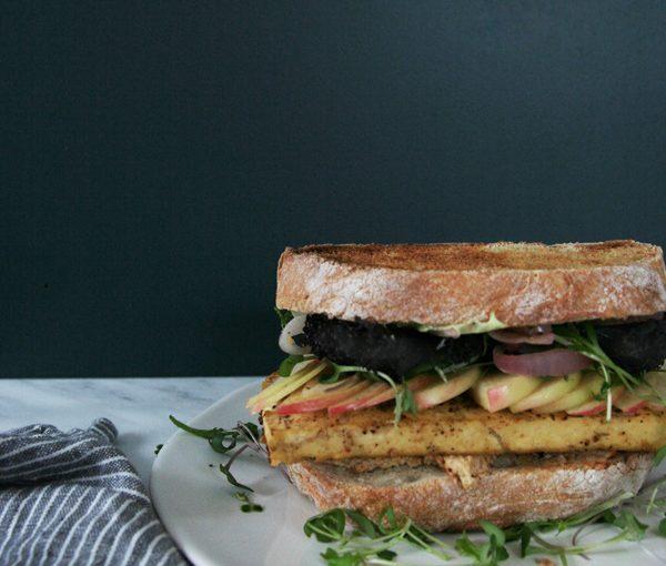 Grilled Tofu & Apple Sandwiches, vegan, vegetarian