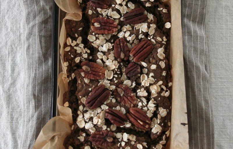 banana oatmeal bread with buckwheat flour, vegan, gluten free