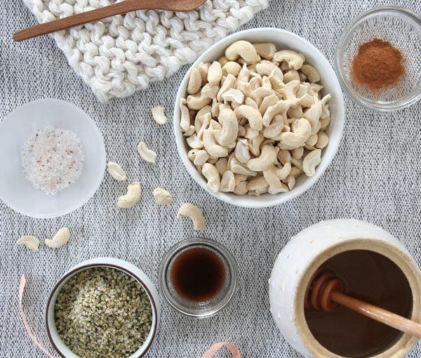 Cashew Hemp Milk, Vegan Nut Milk, Honey, Salt, Vegetarian