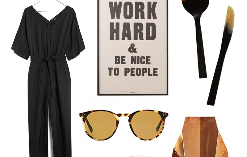 spring shopping cart, work hard and be nice to people, school house electric, anthropologie, oliver peoples, bludot, juice beauty, everlane, madewell, busk and bask, tiivol audio model one radio