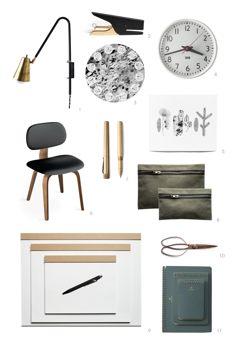studio interior design bits, kaufmann mercantile, schoolhouse electric, gus modern, one forty three