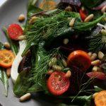Arugula, Fennel, Beet Salad with Kumquats and Pine Nuts