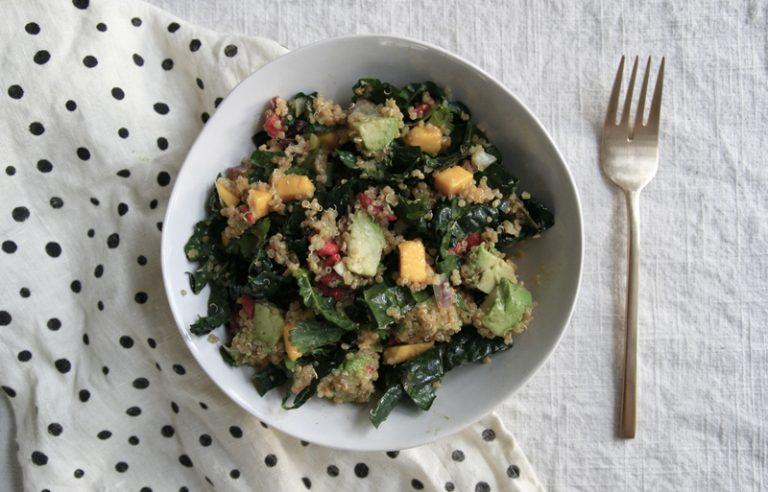 Mango, Goji, Avocado, Kale & Quinoa Salad