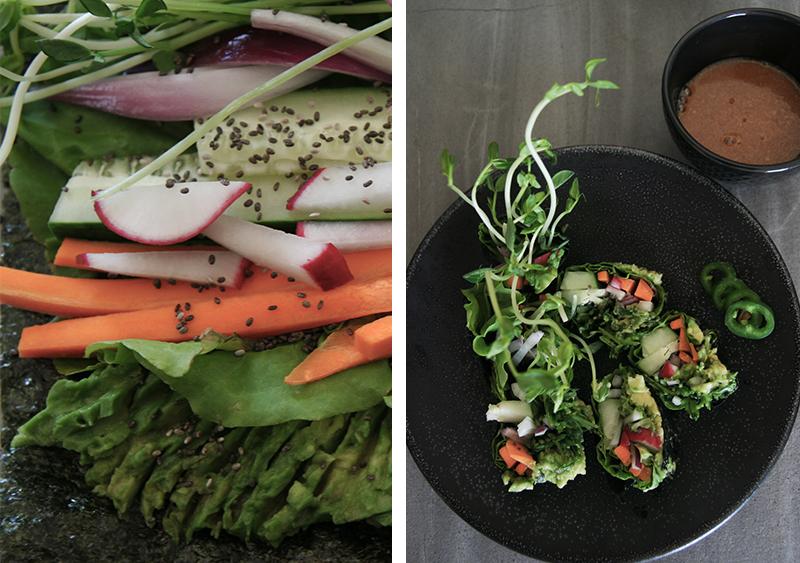 Veggie Sushi Rolls, Vegan, Vegetarian, Gluten-free, Rice-free, Easy Lunch Recipe, Easy Sushi, Nori, Seaweed, Health, Quick Healthy Lunch