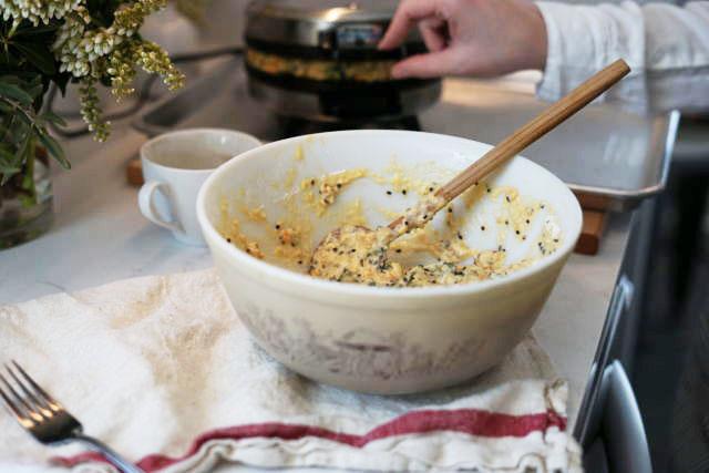 Savory Waffle Recipe Cooking