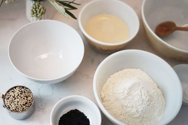 Savory Waffle Recipe Flour Bowls