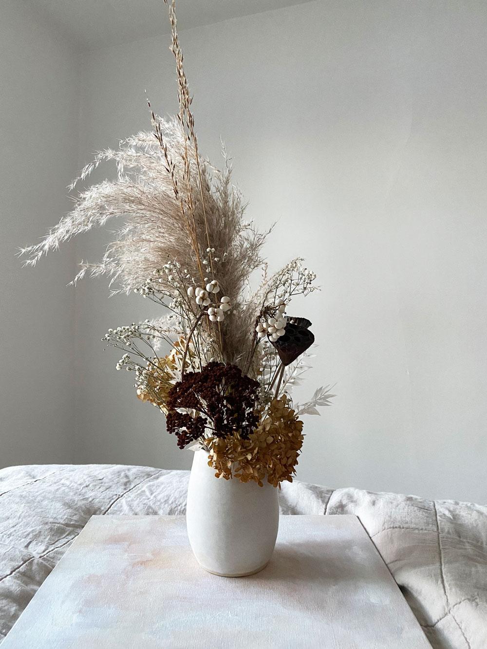 Snow Bird - Dried Floral Arrangement