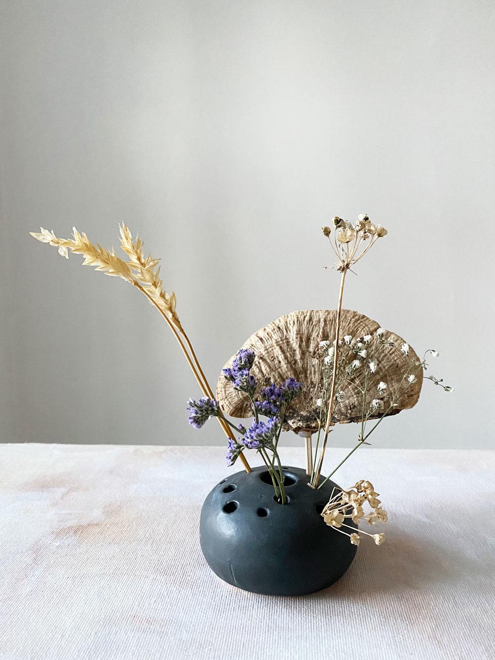 Mushroom Magic - Dried Floral Frog